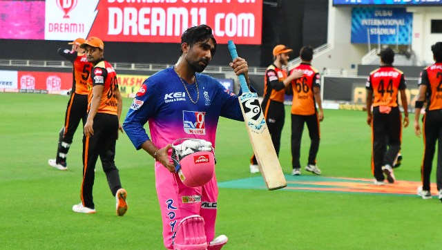 Rahul Tewatia remained unbeaten on 45 off 28 as he, along with Riyan Parag, guided Rajasthan Royals to a thrilling five-wicket victory over Sunrisers Hyderabad. Sportzpics