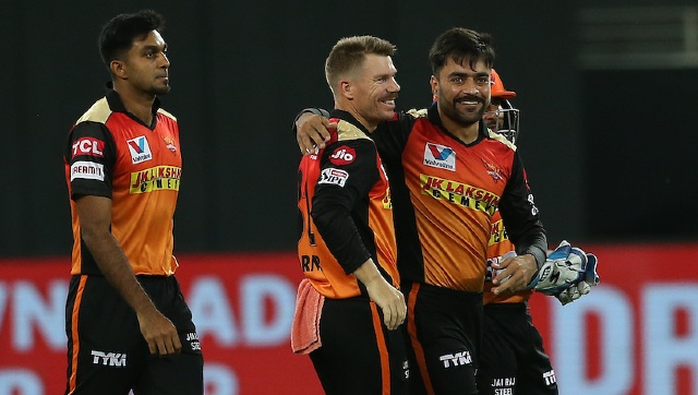 Rashid Khan finished with stupendous bowling figures of 4-0-7-3 for SRH. Sportzpics