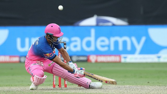 Riyan Parag showed immense maturity and some inventive strokeplay to guide RR to victory. Image courtesy: Sportzpics