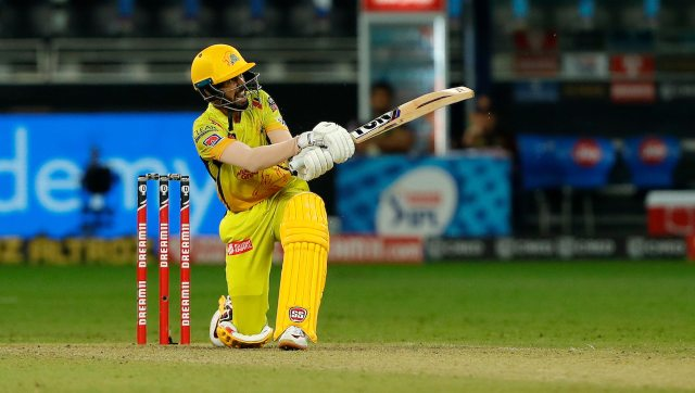 CSK's Ruturaj Gaikwad scored his second straight half-century to set up a six-wicket win over KKR. Image: Sportzpics for BCCI