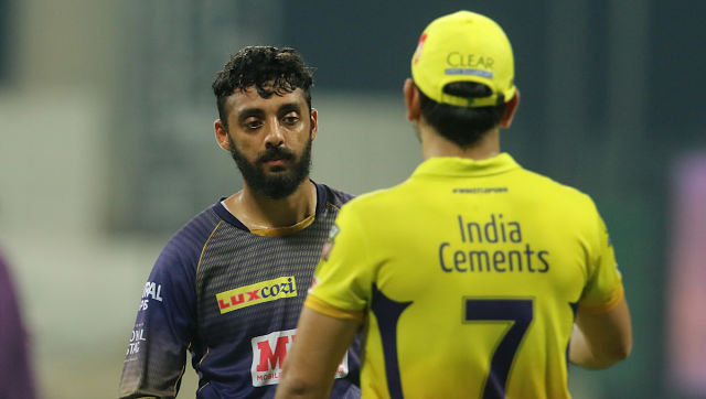 """""""I used to come just to see Dhoni batting. Now I bowled against him. It was a surreal moment for me."""" Sportzpics"""