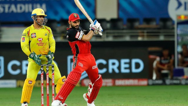 RCB's Virat Kohli scored a match-winning 90 against CSK. 50 of them came in singles and doubles in Dubai heat and humidity. Image: Sportzpics for IPL