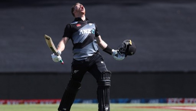 Glenn Phillips struck a 46-ball century to lead New Zealand to a 72-run win over the West Indies in the second T20I. AFP