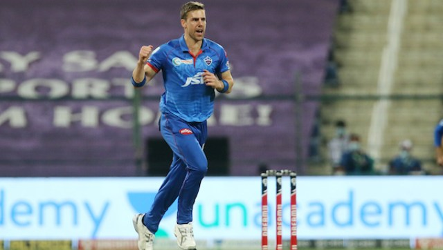 Anrich Nortje's three wickets helped Delhi Capitals restrict Royal Challengers Bangalore to a score of 152. SportzPics