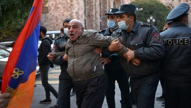 NagornoKarabakh peace deal Anger mounts in Armenia as PM Nikol Pashinyan agrees to cede disputed land to Azerbaijan