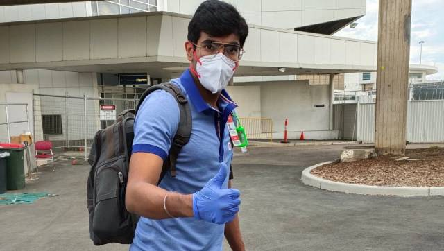Jasprit Bumrah on landing in Sydney for the Australia tour. Image: Twitter/BCCI