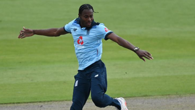 File image of England pacer Jofra Archer. Image credit: Twitter/@ICC