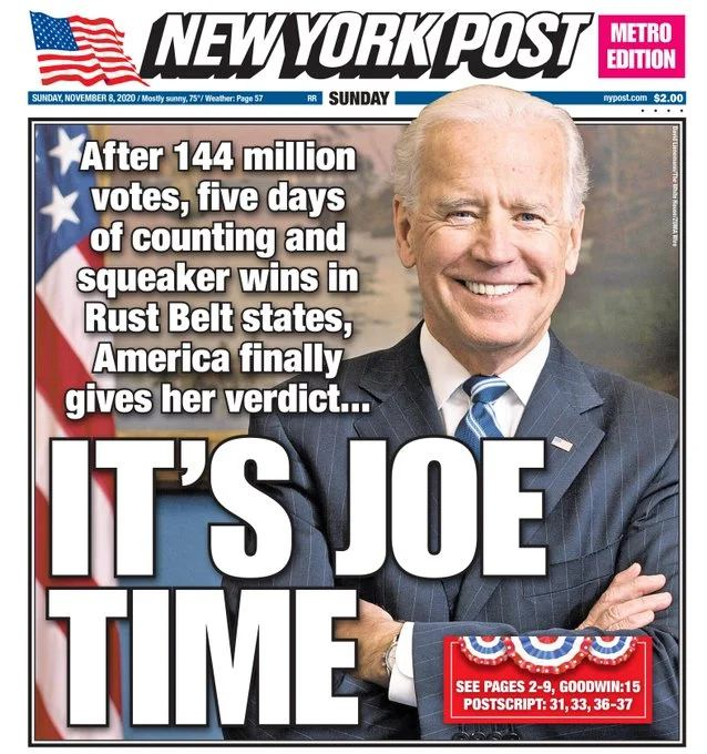 US Election 2020 From finally to yes he can too how newspapers around world reacted to Bidens win