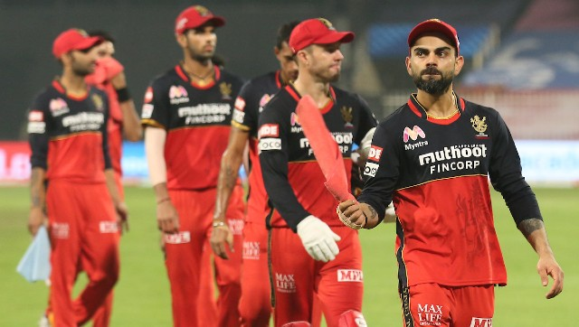 RCB's downward spiral means Virat Kohli's men are in a precarious position ahead of the playoffs. Image: Sportzpics