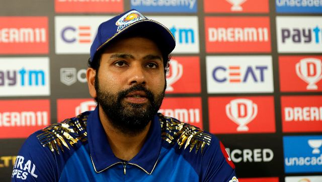 Rohit Sharma during the post-match press conference after MI's win over DC in Qualifier 1. Sportzpics