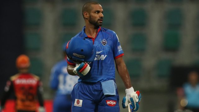 Shikhar Dhawan of Delhi Capitals has slammed 63 runs this season, helping his team reach the final. Image: Sportzpics for BCCI