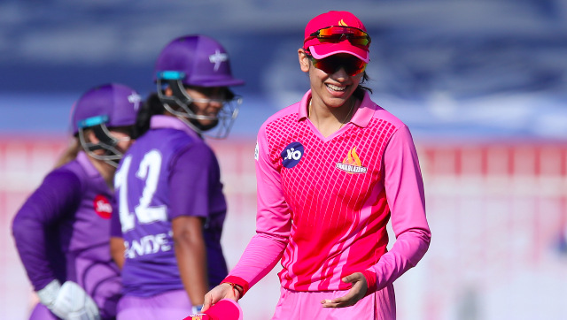 Trailblazers captain Smriti Mandhana in action during the second match of the Women's T20 Challenge 2020 against Velocity. Sportzpics