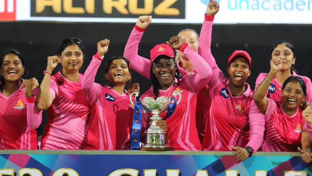 Trailblazers won by 16 runs against Supernovas to clinch their maiden Women's T20 Challenge title. Image: Sportzpics for BCCI
