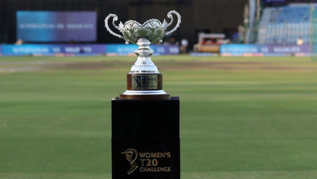 File image of the Women's T20 Challenge Trophy. Image credit: Twitter/@IPL