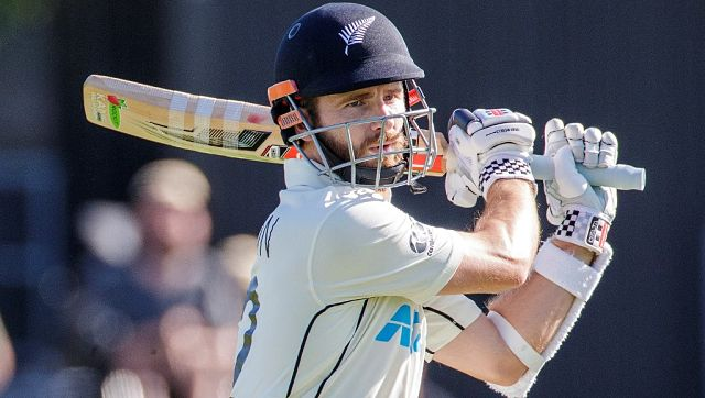 New Zealand's captain Kane Williamson remains unbeaten on 87 at stumps on Day 1. AFP