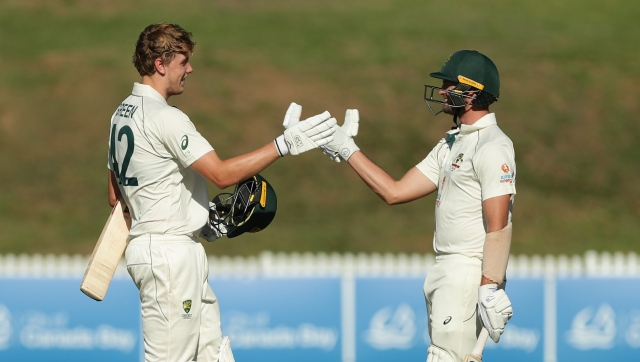 Cameron Green (left) struck an unbeaten century for Australia A against India on Day 2 the tour match. Twitter/ BCCI