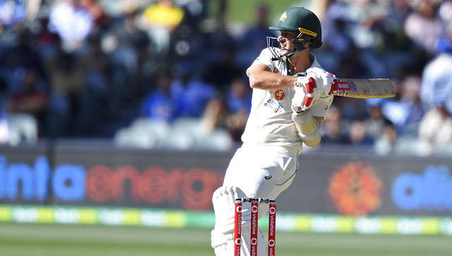 Australia's Joe Burns in action during first Test against India. AP