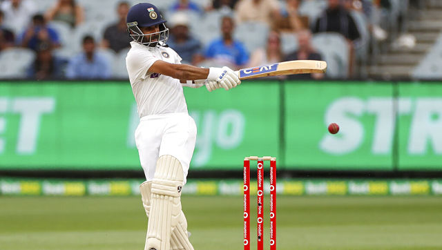 Ajinkya Rahane in action on Day Two of the second Test against Australia at the Melbourne Cricket Ground. AP