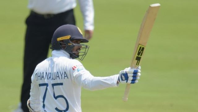 Dhananjaya de Silva played some flowing strokes in hitting 11 fours and a six off 105 balls, while Chandimal played an anchor role, reaching his half-century off 116 balls in the last over before tea. AFP