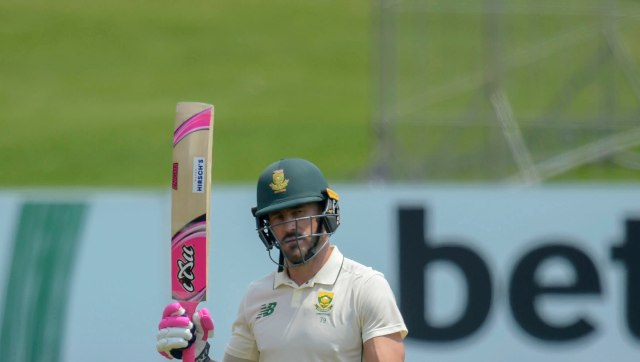 Faf du Plessis shared partnerships of 179 for the fifth wicket with Temba Bavuma (71) and 133 for the seventh wicket with Keshav Maharaj, who made a Test-best 73. AP