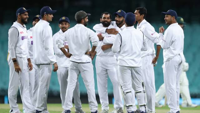 Indian cricket team during the practice match against Australia A. Image: Twitter/BCCI