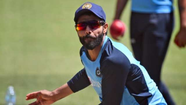 All-rounder Ravindra Jadeja was the first to arrive at the nets for the training session and he was put through a fitness test. AFP