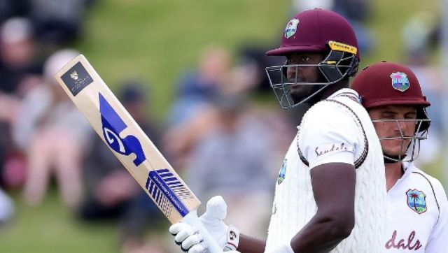 Jason Holder was not out 60, with eight fours and two sixes, when bad light ended play an hour early. AFP