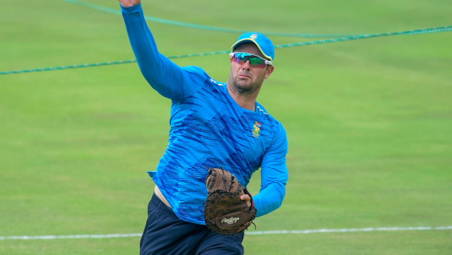 South Africa head coach Mark Boucher at a practice session during the first Test against Sri Lanka at Centurion. AP