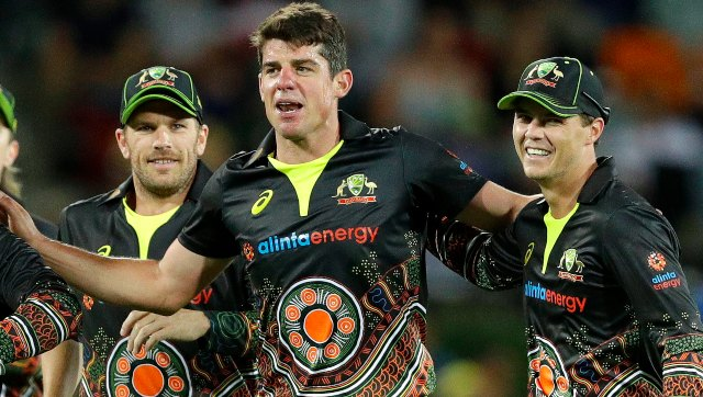 Moises Henriques produced a quality all-round effort (3/22, 30) for Australia in the first T20I against India on Friday. AP