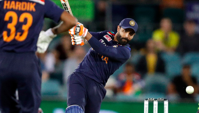 Ravindra Jadeja shone with the bat in the first T20I against Australia, remaining unbeaten on 44 off 23 deliveries. AP