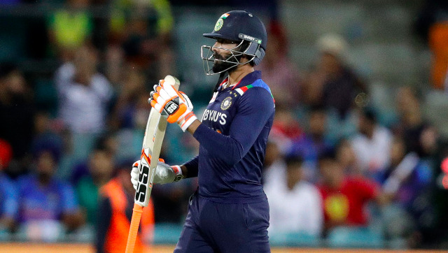 Ravindra Jadeja was reported to have suffered a concussion after getting hit on the helmet by a Mitchell Starc bouncer. AP