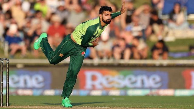 Shadab Khan will miss the series against South Africa due to the left thigh injury he suffered in a T20I against New Zealand. AFP