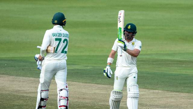 Dean Elgar (right) has taken over as captain of South Africa's Test team. AP