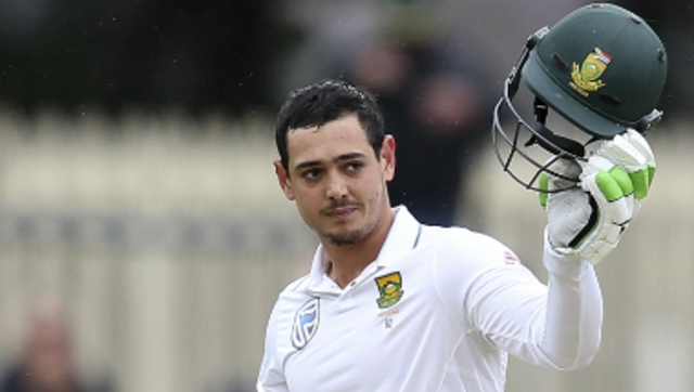 File image of South Africa's captain and wicket-keeper Quinton de Kock. AP