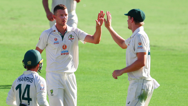Josh Hazlewood finished with figures of 5/57 as Australia bowled India out for 336 on Day 3 of the fourth Test. AP