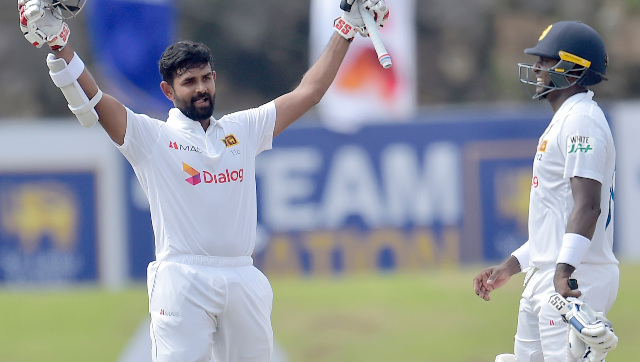 Lahiru Thirimanne led the way with the bat for the Sri Lankans, bringing up only his second Test century on Day 4 at Galle. Image credit: Twitter/@ICC