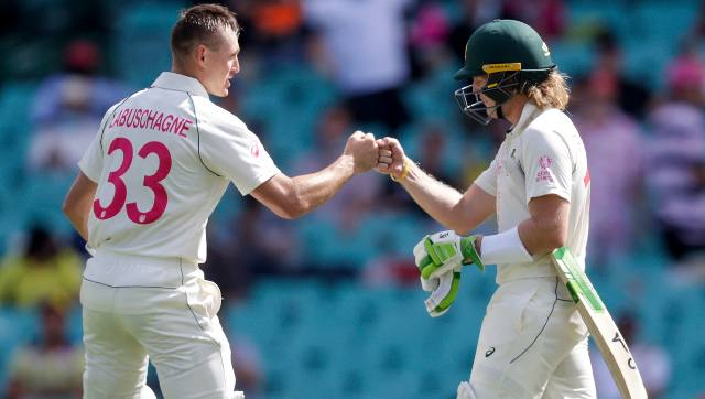 100-run partnership between Will Pucovski and Marnus Labuschagne helped Australia pull back things after they lost David Warner early. AP