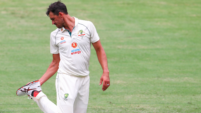 Mitchell Starc bowled just one over on Day 4 of the Brisbane Test, during which he showed signs of discomfort. AP