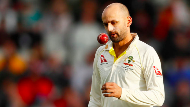 Nathan Lyon will be playing his 100th Test when he takes the field in Brisbane. File/Reuters