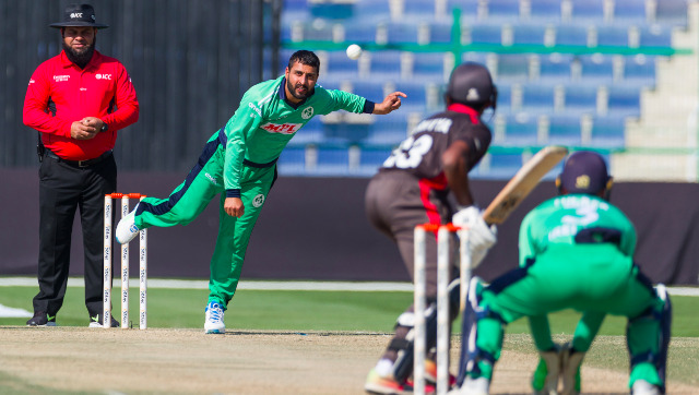 Simi SIngh's superb haul of 5/10 helped Ireland restrict UAE to a meagre 116. Image credit: Twitter/@Irelandcricket