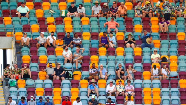 """A section of the crowd at the Brisbane Cricket Ground reportedly called Mohammed Siraj a """"bloody grub"""". AP"""