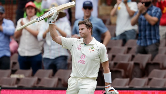 Steve Smith bounced back with a century after failing to reach double figures in the opening two Tests. AP