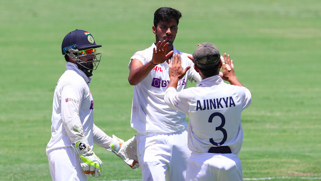 Washington Sundar finished with figures of 3/89 in Australia's first innings, grabbing the key wicket of Steve Smith along the way. AP
