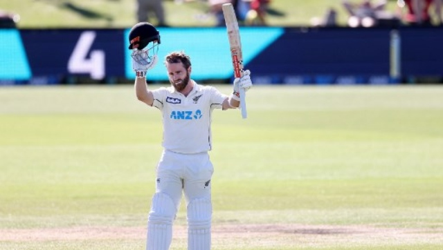 It was Kane Williamson's third century in as many Tests in the past month, although fortune was on his side. AFP