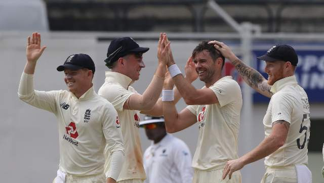 James Anderson was terrific with his three-wicket burst in seven overs, including four maidens. Leach, Dom Bess and Stokes also enjoyed some success. Sportzpics