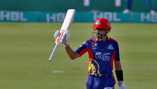 Babar Azam led Karachi to their second win in three games with a six and two fours in succession against fast bowler Sohail Khan in the penultimate over. AP