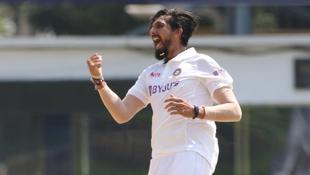 Ishant Sharma of India celebrates the wicket of Dan Lawrence of England during day four of the first test match between India and England held at the Chidambaram Stadium in Chennai, Tamil Nadu, India on the 8th February 2021 Photo by Pankaj Nangia/ Sportzpics for BCCI