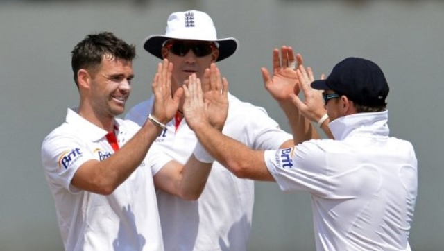 File image of James Anderson during the 2012 tour to India. AFP