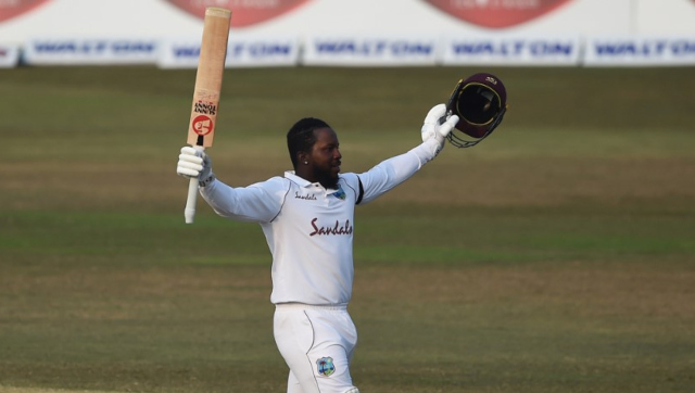 Kyle Mayers struck an unbeaten 210, becoming the first Test debutant to score a double ton, to guide West Indies to an improbable three-wicket win. AFP