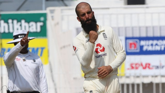 Moeen Ali in action during second Test at Chennai. Image: Sportzpics for BCCI